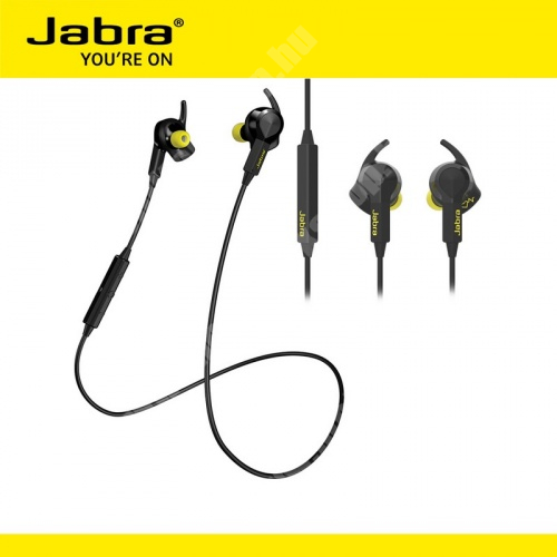 SAMSUNG GT-B7320 OmniaPRO JABRA SPORT PULSE SZTEREO WIRELESS bluetooth headset / james bond - vezetékes fülhallgatóval, cseppálló, multiuse - FEKETE - GYÁRI