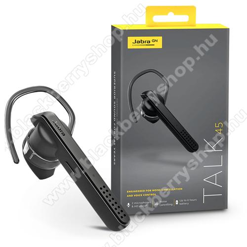 Jabra Talk 45 Bluetooth headset - v4.0, multipoint (egyszerre 2 különböző telefonnal használható!) - FEKETE / SZÜRKE - GYÁRI