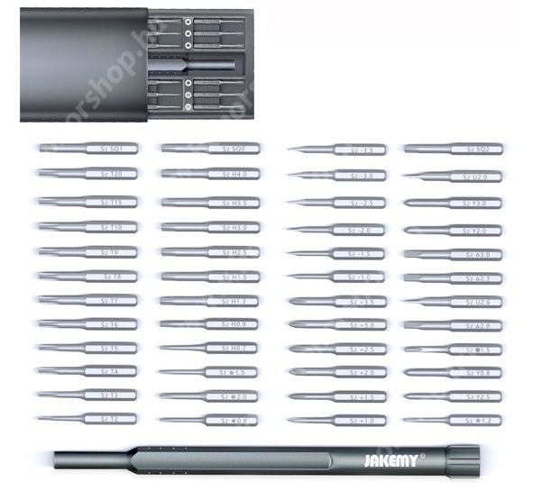 HUAWEI Honor V40 5G JAKEMY JM-8169 49 in 1 csavarhúzó készlet / mágneses bitfej készlet
