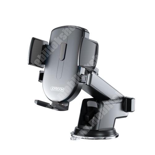 """ALCATEL A30 JOYROOM univerzális autós / gépkocsi tartó - tapadókorongos, szélvédőre vagy műszerfalra rögzíthető, 117 x 155 x 109mm, 4-6.7""""-os készülékekhez - FEKETE - JR-OK3 - GYÁRI"""