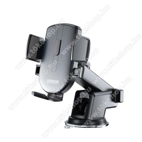 JOYROOM univerzális autós / gépkocsi tartó - tapadókorongos, szélvédőre vagy műszerfalra rögzíthető, 117 x 155 x 109mm, 4-6.7