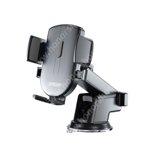 """HUAWEI Honor 3 JOYROOM univerzális autós / gépkocsi tartó - tapadókorongos, szélvédőre vagy műszerfalra rögzíthető, 117 x 155 x 109mm, 4-6.7""""-os készülékekhez - FEKETE - JR-OK3 - GYÁRI"""