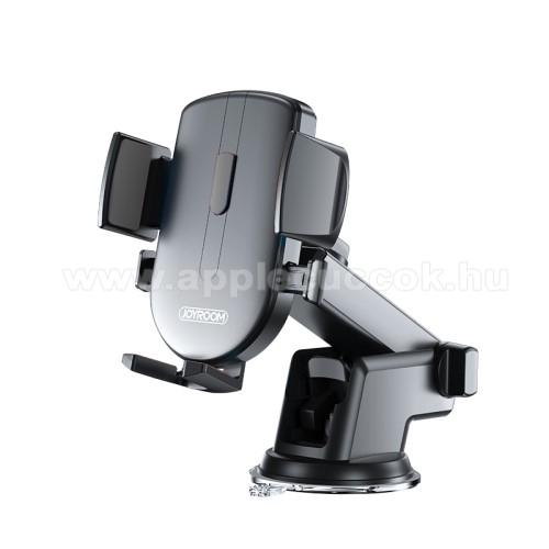 APPLE iPhone XrJOYROOM univerzális autós / gépkocsi tartó - tapadókorongos, szélvédőre vagy műszerfalra rögzíthető, 117 x 155 x 109mm, 4-6.7