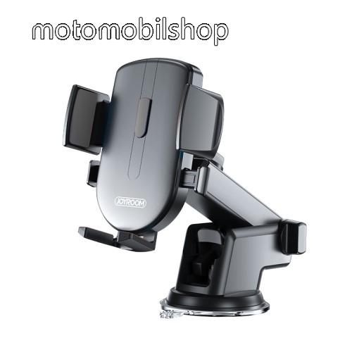 """MOTOROLA Moto Z4 JOYROOM univerzális autós / gépkocsi tartó - tapadókorongos, szélvédőre vagy műszerfalra rögzíthető, 117 x 155 x 109mm, 4-6.7""""-os készülékekhez - FEKETE - JR-OK3 - GYÁRI"""