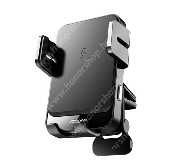 HUAWEI Honor V40 5G JOYROOM UNIVERZÁLIS autós / gépkocsi tartó - szellőzőrácsra rögzíthető, infravörös érzékelő automatikusan nyit és zár, Type-C aljzat, 360°-ban forgatható, QI töltés, 15W, fogadóegység nélkül! - FEKETE - GYÁRI