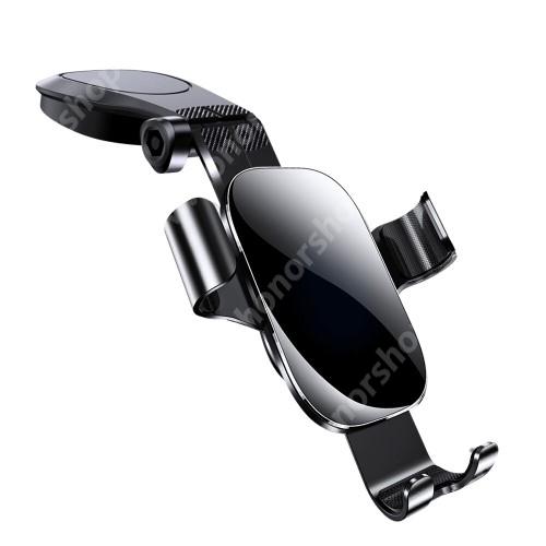 """HUAWEI Honor V40 5G JOYROOM ZS198 Gravity univerzális autós / gépkocsi tartó - FEKETE - műszerfalra ragasztható, elforgatható, 4-7,2""""-os készülékekhez használható bölcső - GYÁRI"""