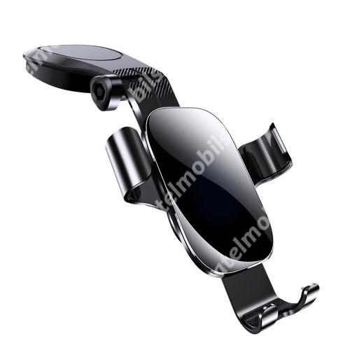 """JOYROOM ZS198 Gravity univerzális autós / gépkocsi tartó - FEKETE - műszerfalra ragasztható, elforgatható, 4-7,2""""-os készülékekhez használható bölcső - GYÁRI"""