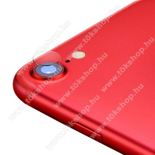 Kamera lencsevédő karcálló edzett üveg - 1db, 9H, 0,33mm, Arc Edge - APPLE iPhone SE (2020) / APPLE iPhone 7 / APPLE iPhone 8 / APPLE iPhone 6 / APPLE iPhone 6S
