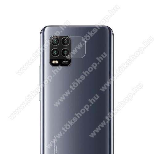 Kamera lencsevédő karcálló edzett üveg - 1db, 9H, 0,33mm, Arc Edge - Xiaomi Mi 10 Lite 5G / Xiaomi Mi 10 Youth 5G / Xiaomi Mi 10 Lite Zoom