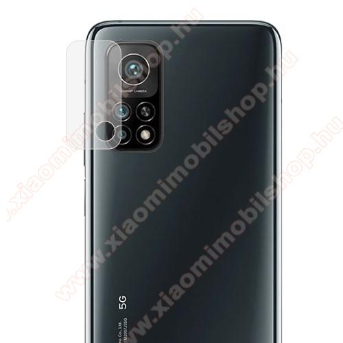 Kamera lencsevédő karcálló edzett üveg - 1db, 9H, 0,33mm, Arc Edge - Xiaomi Mi 10T Pro 5G