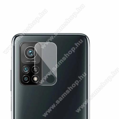 Kamera lencsevédő karcálló edzett üveg - 1db, 9H, 0,33mm, Arc Edge - Xiaomi Mi 10T 5G
