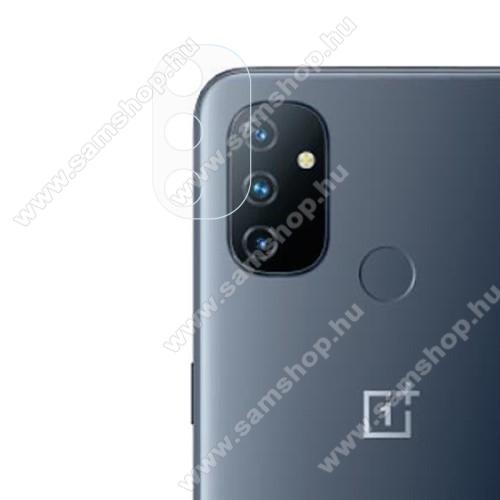 Kamera lencsevédő karcálló edzett üveg - 1db, 9H, 0,33mm, Arc Edge - OnePlus Nord N100