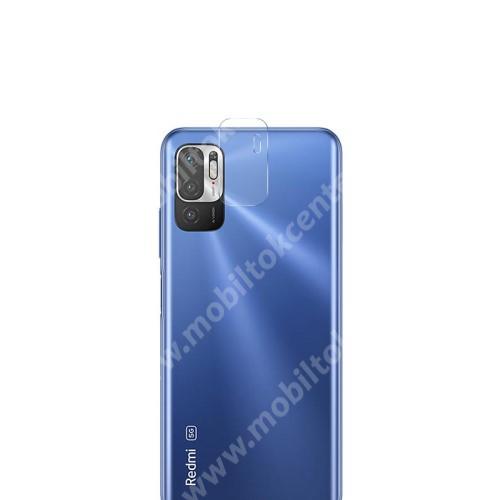 Kamera lencsevédő karcálló edzett üveg - 1db, 9H, 0,33mm, Arc Edge - Xiaomi Redmi Note 10 5G