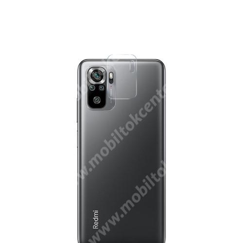Kamera lencsevédő karcálló edzett üveg - 1db, 9H, 0,33mm, Arc Edge - Xiaomi Redmi Note 10S