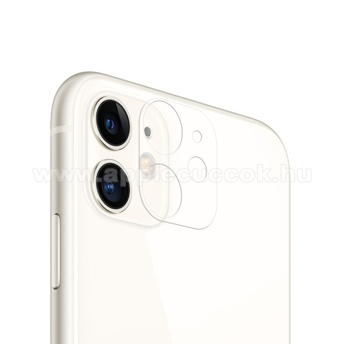 Kamera lencsevédő üvegfólia - ÁTLÁTSZÓ - 1db, 9H - APPLE iPhone 12 / APPLE iPhone 12 mini