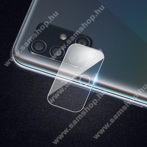 Kameralencsevédő karcálló edzett üveg, 1db, 9H, 0,3mm - SAMSUNG Galaxy A71 (SM-A715F) / SAMSUNG Galaxy A71 5G (SM-A716F)