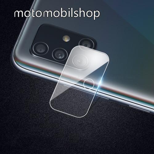 Kameralencsevédő karcálló edzett üveg, 1db, 9H, 0,3mm - SAMSUNG Galaxy A51 (SM-A515F) / SAMSUNG Galaxy A51 5G (SM-A516F)
