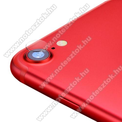 Kameralencsevédő karcálló edzett üveg - 1db, 9H, 0,33mm, Arc Edge - APPLE iPhone SE (2020) / APPLE iPhone 7 / APPLE iPhone 8 / APPLE iPhone 6 / APPLE iPhone 6S