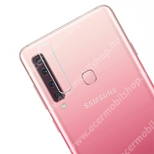 Kameravédő fólia - CRYSTAL Clear - 1db, törlőkendővel, 6H - SAMSUNG SM-A920F Galaxy A9 (2018)