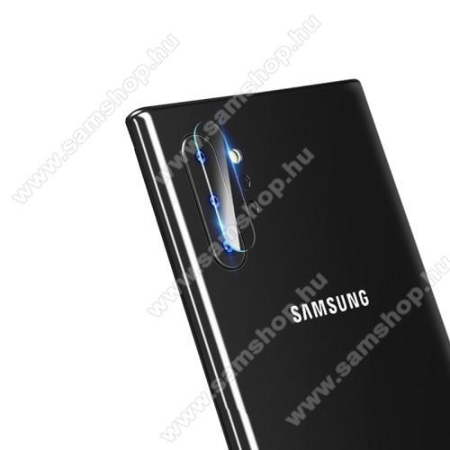 Kameravédő üvegfólia, 0,3mm, Arc Edge - SAMSUNG Galaxy Note10 Plus (SM-N975F) / SAMSUNG Galaxy Note10 Plus 5G (SM-N976F)