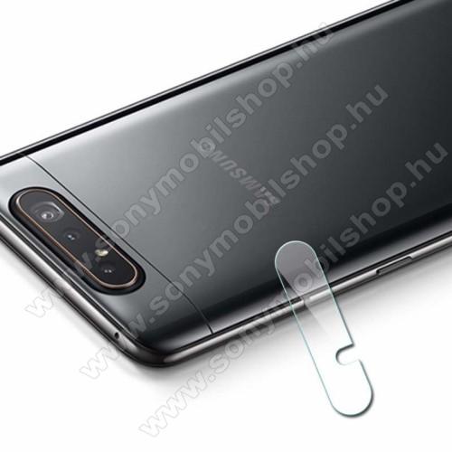 Kameravédő üvegfólia, 0,3mm, Arc Edge - SAMSUNG SM-A805F Galaxy A80 / SAMSUNG SM-A905F Galaxy A90
