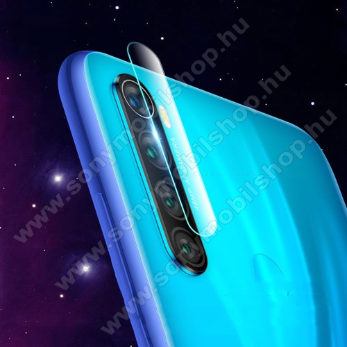 Kameravédő üvegfólia, 0,3mm, Arc Edge - Xiaomi Redmi Note 8 / Xiaomi Redmi Note 8T