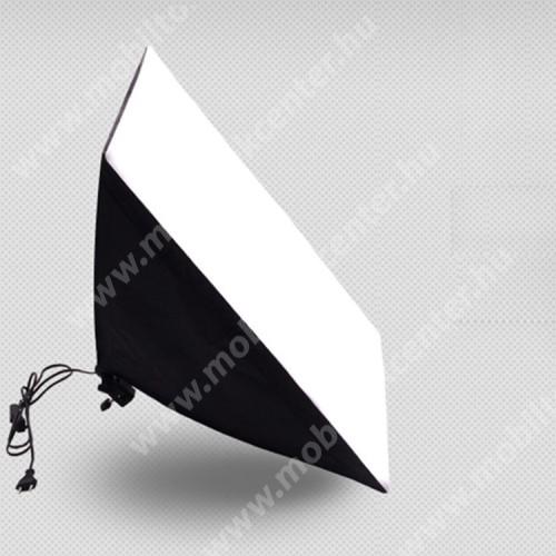 KAYLYPS 5070 softbox / stúdióvilágítás - 2m-es tápkábel, kerámia lámpafej, mérete: 50 x 70 cm, alkalmazható izzó: 150W / 5500K vagy 135W / 5500K (NEM TARTOZÉK!)