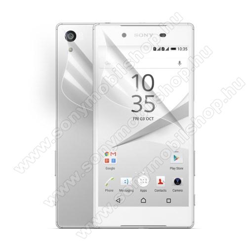 SONY Xperia Z5 DualKépernyővádő fólia - HD Clear - előlap ás hátlap is! - 1 pár - SONY Xperia Z5 / Z5 Dual