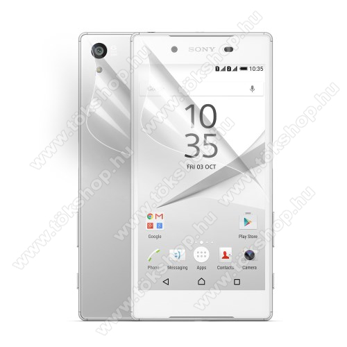Képernyővádő fólia - HD Clear - előlap ás hátlap is! - 1 pár - SONY Xperia Z5 / Z5 Dual