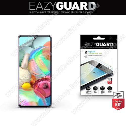 Képernyővédő fólia - 2 db/csomag (Crystal/Antireflex MATT!) - törlőkendővel, A képernyő sík részét védi - SAMSUNG SM-A715F Galaxy A71 / SAMSUNG SM-N770F Galaxy Note10 Lite