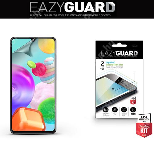 Képernyővédő fólia - 2 db/csomag (Crystal/Antireflex MATT!) - törlőkendővel, A képernyő sík részét védi - SAMSUNG Galaxy A41 (SM-A415F)