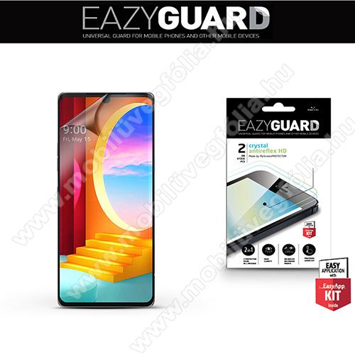 Képernyővédő fólia - 2 db/csomag (Crystal/Antireflex MATT!) - törlőkendővel, A képernyő sík részét védi - LG Velvet 4G (LMG910EMW / LM-G910EMW) / LG Velvet 5G (LM-G900N / LM-G900EM)