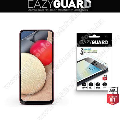 Képernyővédő fólia - 2 db/csomag (Crystal/Antireflex MATT!) - törlőkendővel, A képernyő sík részét védi - SAMSUNG Galaxy A02s (SM-A025F) / Galaxy M02s (SM-M025F)