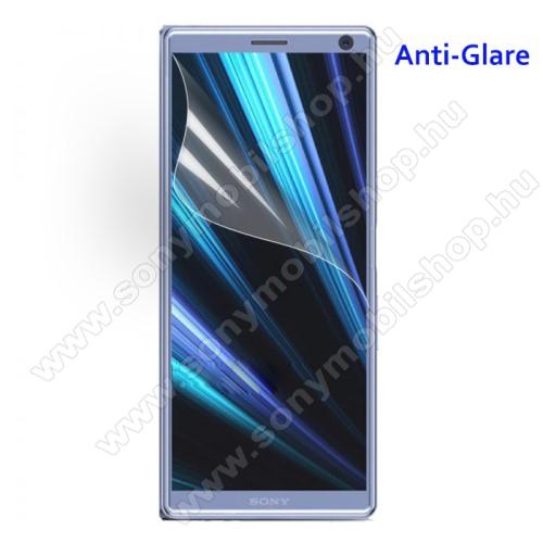 Képernyővédő fólia - Anti-glare - MATT! - 1db, törlőkendővel - SONY Xperia XA3