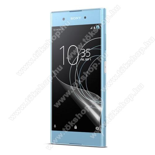 Képernyővédő fólia - Clear - 1db, törlőkendővel - Sony Xperia XA1 Plus