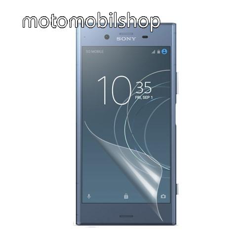 Képernyővédő fólia - Clear - 1db, törlőkendővel - Sony Xperia XZ1