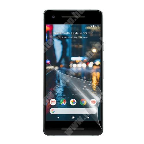 Képernyővédő fólia - Clear - 1db, törlőkendővel - Google Pixel 2