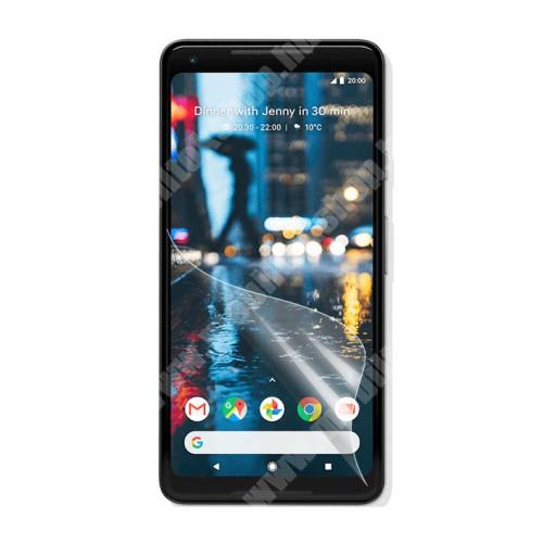 Képernyővédő fólia - Clear - 1db, törlőkendővel - Google Pixel XL 2