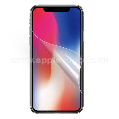 APPLE iPhone Xr Képernyővédő fólia - Clear - 1db, törlőkendővel - APPLE iPhone Xr