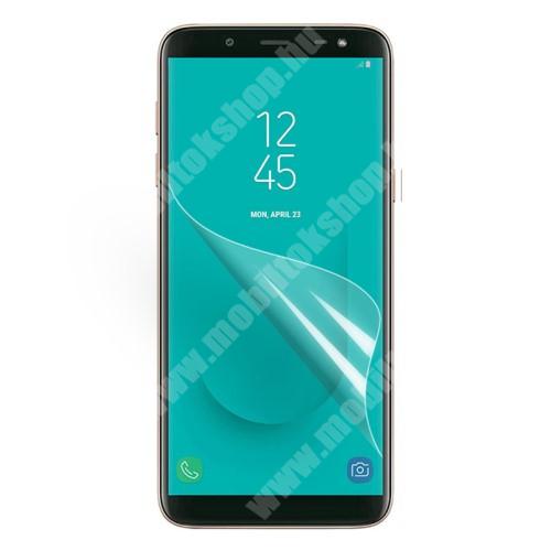 Képernyővédő fólia - Clear - 1db, törlőkendővel - SAMSUNG SM-J600F Galaxy J6 (2018)