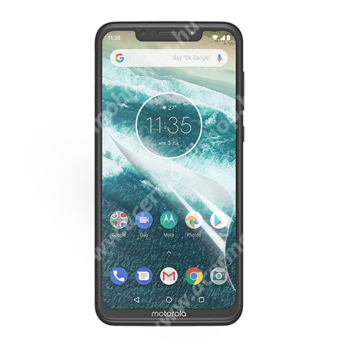 MOTOROLA One Power (P30 Note) Képernyővédő fólia - Clear - 1db, törlőkendővel - MOTOROLA One Power (P30 Note)