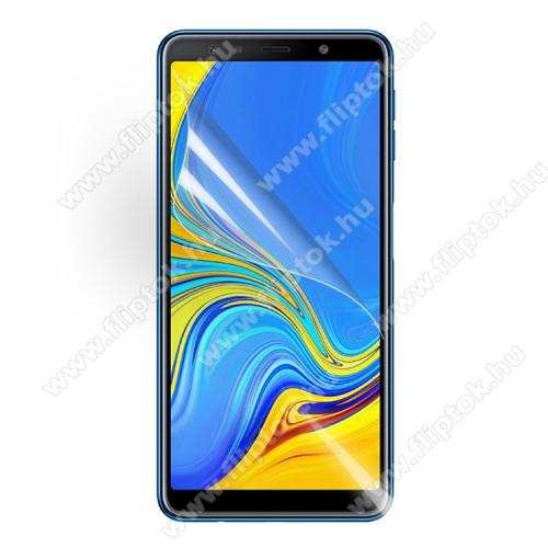 SAMSUNG SM-A750F Galaxy A7 (2018)Képernyővédő fólia - Clear - 1db, törlőkendővel - SAMSUNG SM-A750F Galaxy A7 (2018)
