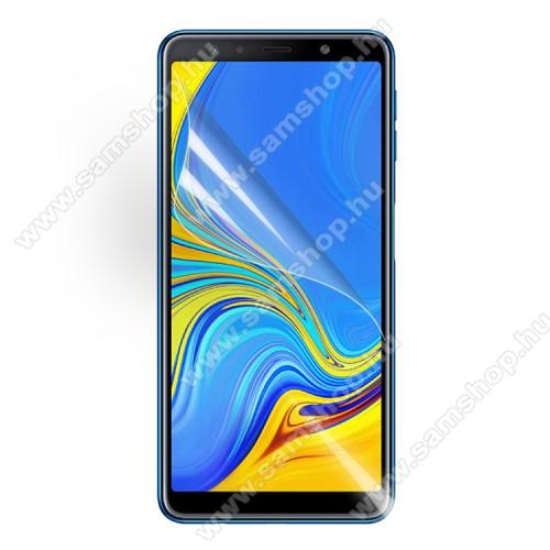 SAMSUNG Galaxy A7 (2018) (SM-A750F)Képernyővédő fólia - Clear - 1db, törlőkendővel - SAMSUNG SM-A750F Galaxy A7 (2018)