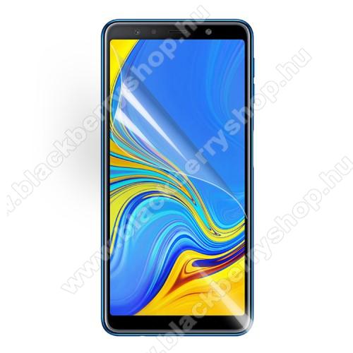Képernyővédő fólia - Clear - 1db, törlőkendővel - SAMSUNG SM-A750F Galaxy A7 (2018)