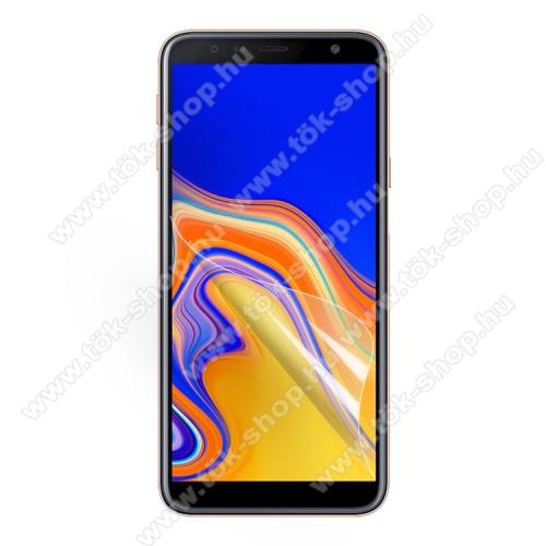 Képernyővédő fólia - Clear - 1db, törlőkendővel - SAMSUNG SM-J415F Galaxy J4+ / SAMSUNG SM-J610F Galaxy J6+