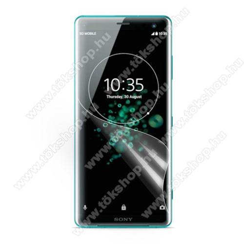 Képernyővédő fólia - Clear - 1db, törlőkendővel - SONY Xperia XZ3