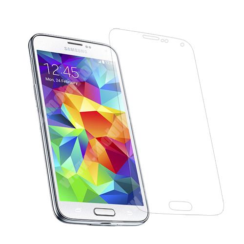 SAMSUNG Galaxy S5 (SM-G900F) Képernyővédő fólia - Clear - 1db, törlőkendővel - SAMSUNG SM-G900F Galaxy S5