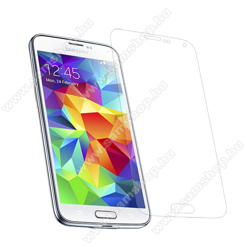 SAMSUNG Galaxy S5 Plus (SM-G901F)Képernyővédő fólia - Clear - 1db, törlőkendővel - SAMSUNG SM-G900F Galaxy S5