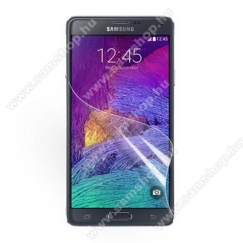 SAMSUNG Galaxy Note 4. (SM-N910C)Képernyővédő fólia - Clear - 1db, törlőkendővel - SAMSUNG SM-N910C Note 4.