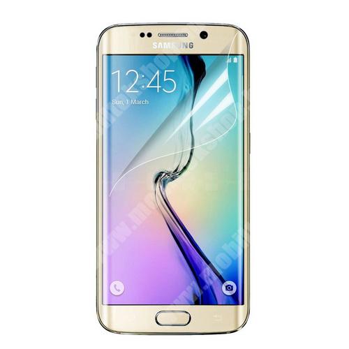 Képernyővédő fólia - Clear - 1db, törlőkendővel - SAMSUNG SM-G925F Galaxy S6 Edge